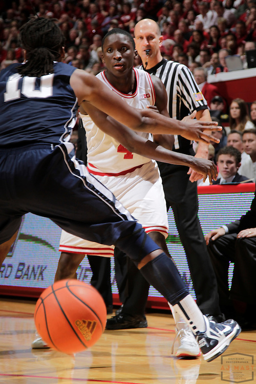 23 January 2013: Indiana guard Victor Oladipo (4) as the Indiana Hoosiers played the Penn State Nittnay Lions in a college basketball game in Bloomington, Ind.
