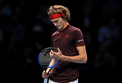 Alexander Zverev during day five of the NITTO ATP World Tour Finals at the O2 Arena, London.