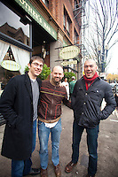 Guys outside of Mother's Bistro and Bar in Portland, OR>