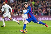 FC Barcelona's Leo Messi during spanish La Liga match between Futbol Club Barcelona and Real Madrid  at Camp Nou Stadium in Barcelona , Spain. Decembe r03, 2016. (ALTERPHOTOS/Rodrigo Jimenez)
