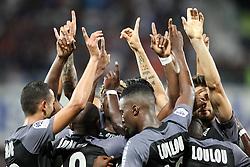 August 5, 2017 - Montpellier, France - joie equipe mhsc apres but camara (Credit Image: © Panoramic via ZUMA Press)