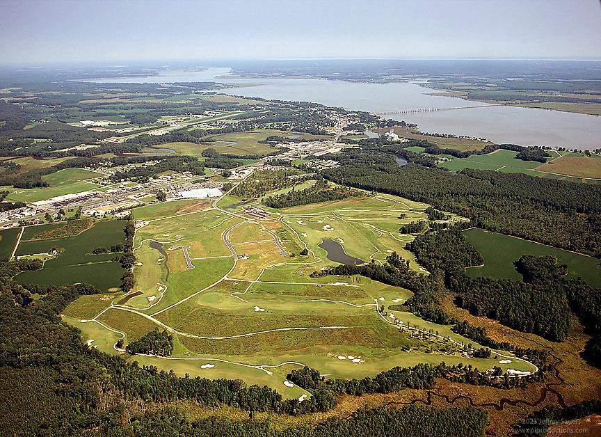 Golf Course aerial photograph