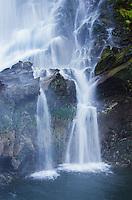 Vertical waterfall in Red Bluff Bay in South Baranof Wilderness, Alaska.