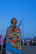 Flag Raising Daily Ceremony, Veterans Memorial, Sunset Point, Cape May, South Jersey, NJ