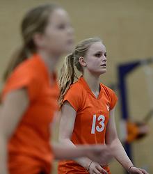 03-01-2015 NED: Nationale Open Clubkampioenschappen Volleybal 2015, Harderwijk<br /> Niet minder dan 491 jeugdteams, verdeeld over 27 sporthallen, begonnen aan de Nationale Open Clubkampioenschappen (NOJK) van 2015 / De jongens C en meisjes B/C in actie in de Sypel te Harderwijk / Vives - Orion