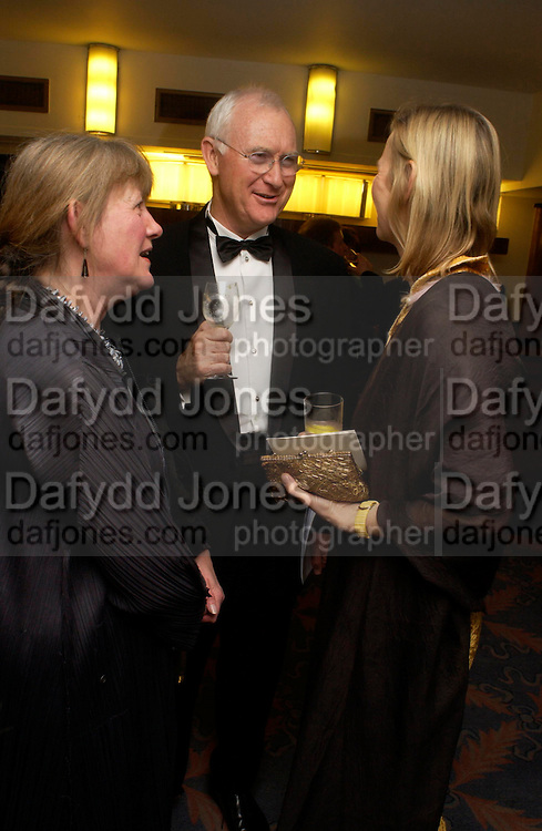 Lady and Lord Birt and Philippa Walker. Annual  Award dinner given by the Media Society in honour of Sir David Frost. Savoy. 9 March 2005. ONE TIME USE ONLY - DO NOT ARCHIVE  © Copyright Photograph by Dafydd Jones 66 Stockwell Park Rd. London SW9 0DA Tel 020 7733 0108 www.dafjones.com