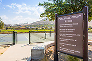 Pickleball Court Rules Signage at Sendero Field Park in Rancho Mission Viejo