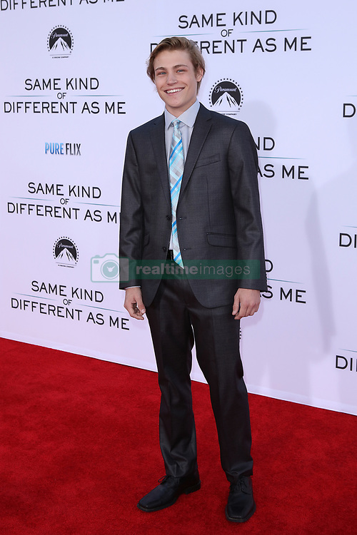 "Austin Filson at the Paramount Pictures And Pure Flix Entertainment's ""Same Kind Of Different As Me"" Premiere held at the Westwood Village Theatre on October 12, 2017 in Westwood, California, USA (Photo by Art Garcia/Sipa USA)"