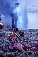 Guatemala - Chichicastenango - Escalier de l'église