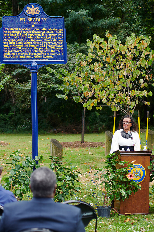 Patricia Blanchet, Ed Bradley's widow<br /> <br /> Patricia Blanchet, widow of Ed Bradley, will lead a loving tribute to Ed Bradley, a Philadelphia-born legendary journalist. The Pennsylvania Historical and Museum Commission has created an historical marker to be placed in West Fairmount Park, not far from the radio station where Bradley began his broadcast career at WDAS on Edgely Avenue. Bradley would have turned 80 in June 2021, so the celebration is a fitting tribute to this trailblazing son of Philadelphia. In addition to the unveiling of the historical marker highlighting Bradley's life, a small grove of nine trees has been planted in the surrounding area to further enhance Fairmount Park.<br /> <br /> for Fairmount Park Conservancy<br /> September 26, 2021