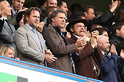 4 February 2017 - Premier League Football - Chelsea v Arsenal<br /> Actors Will Ferrell (middle) and John C Reilly (right) applaud the 2nd Chelsea goal<br /> Photo: Charlotte Wilson