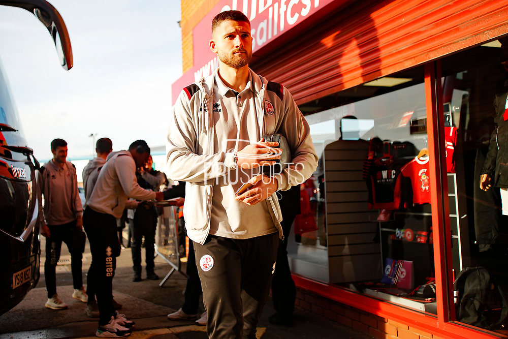 Jamie Sendles-White arrives before the EFL Sky Bet League 2 match between Walsall and Crawley Town at the Banks's Stadium, Walsall, England on 18 January 2020.