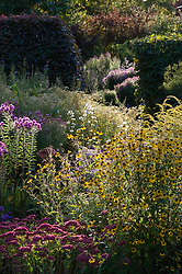 Autumn border at Old Court Nurseries, Colwall