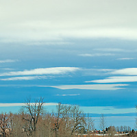 Winter Status clouds threaten snow over Montana's Gallatin Valley.