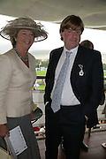 Mary Gordon Lennox and Anthony Gordon Lennox Glorious Goodwood. 2 August 2007.  -DO NOT ARCHIVE-© Copyright Photograph by Dafydd Jones. 248 Clapham Rd. London SW9 0PZ. Tel 0207 820 0771. www.dafjones.com.
