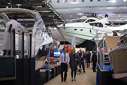 © licensed to London News Pictures. London, UK 12/01/2013. People visiting London Boat Show at ExCeL London. Visitors have the opportunity to see thousands of boats, brands, products and suppliers by over 500 exhibitors. Photo credit: Tolga Akmen/LNP