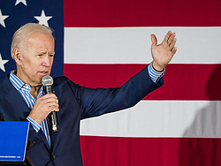May 1, 2019 - Iowa City, Iowa, U.S - Former Vice President JOE BIDEN gives his speech during his campaign event in Iowa City. Biden is running to be the Democratic nominee for the US Presidency in 2020. He is campaigning in Iowa City and Des Moines today. Iowa traditionally hosts the the first selection event of the presidential election cycle. The Iowa Caucuses will be on Feb. 3, 2020. (Credit Image: © Jack Kurtz/ZUMA Wire)