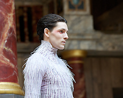 The Tempest By William Shakespeare, The Globe Theatre, London, Great Britain..Directed by Jeremy Herrin, designed by Max Jones, music by Stephen Warbeck..Colin Morgan.Arie, on April 26, 2013, on April 29, 2013. Photo by Elliott Franks / i-Images. .