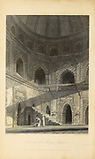 Interior Of A Mosque, Juanpore [Uttar Pradesh, India] (Frontispiece.) From the book ' The Oriental annual, or, Scenes in India ' by the Rev. Hobart Caunter Published by Edward Bull, London 1835 engravings from drawings by William Daniell