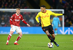 January 6, 2018 - Watford, England, United Kingdom - Watford's Etienne Capoue..during FA Cup 3rd Round match between Watford  and Bristol  City at Vicarage Road Stadium, Watford ,  England 06 Jan 2018. (Credit Image: © Kieran Galvin/NurPhoto via ZUMA Press)
