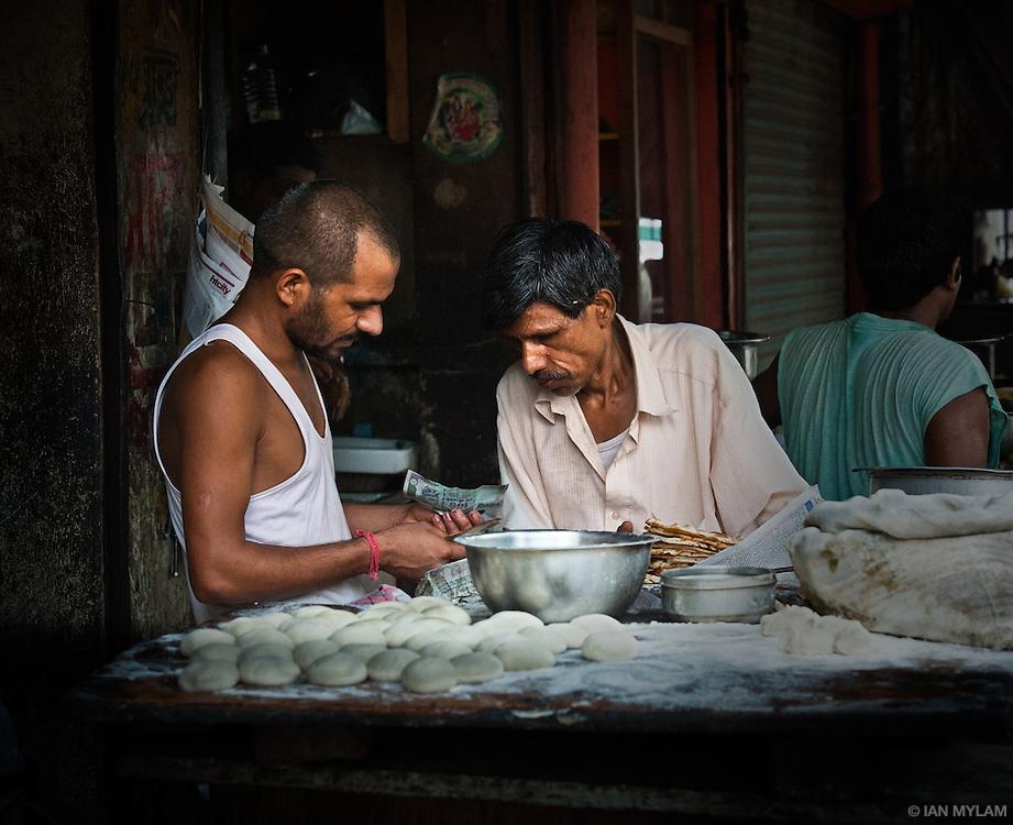 Buying Bread - Old Delhi, India