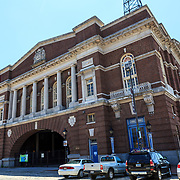 Baltimore, MD, USA - July 26, 2011: The Recreation Pier at Fells Point in Baltimore had been featured as the police headquarters for NBCs network television series, Homicide: Life on the Street.