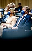 BERLIJN - Koning Willem-Alexander en koningin Maxima in de plenaire zaal van de Bondsraad. Het driedaagse staatsbezoek aan Berlijn vormt de afronding van een reeks deelstaatsbezoeken sinds het koningspaar in 2013 werd ingehuldigd. ANP ROYAL IMAGES SEM VAN DER WAL