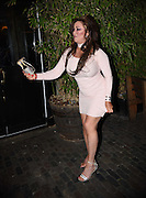 EXCLUSIVE<br /> Lisa Appleton pictured out in London, shows of her boobs before eating a burger on night out<br /> ©Chris Dean/Exclusivepix Media<br /> ©Exclusivepix Media