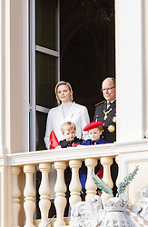 November 19, 2019, Monaco, Monaco: 19-11-2019 Monte Carlo Prince Jacques and Princess Gabriella and Prince Albert II of Monaco and Princess Charlene during the Monaco national day celebrations in Monaco. (Credit Image: © face to face via ZUMA Press)