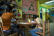 Spirit of Youth Association provides remedial classes and other school subjects such as computer science or mathematics among adolescents.<br />  They also work with students by recycling plastic pots.<br />  In this way the kids can make some money for them and help their families financially.