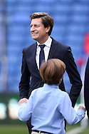 Crystal Palace owner Steve Parish smiling as he walks on to the pitch before k/o. Barclays Premier League match, Crystal Palace v Swansea city at Selhurst Park in London on Monday 28th December 2015.<br /> pic by John Patrick Fletcher, Andrew Orchard sports photography.