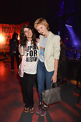 """Bella Freud and Lily Cole at """"Hoping For Palestine"""" Benefit Concert For Palestinian Refugee Children held at The Roundhouse, Chalk Farm Road, England. 04 June 2018."""