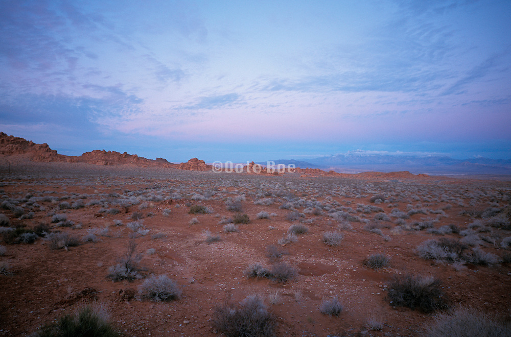 Desert landscape at sunset Valley of Fire State Park US.