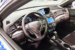 CHARLOTTE, NC, USA - November 11, 2015: Acura ILX on display during the 2015 Charlotte International Auto Show at the Charlotte Convention Center in downtown Charlotte.