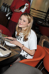 AMBER ATHERTON at W London - Leicester Square for the Liberatum Cultural Honour in Spice Market for John Hurt, CBE in association with artist Svetlana K-Lié on 10th April 2013.