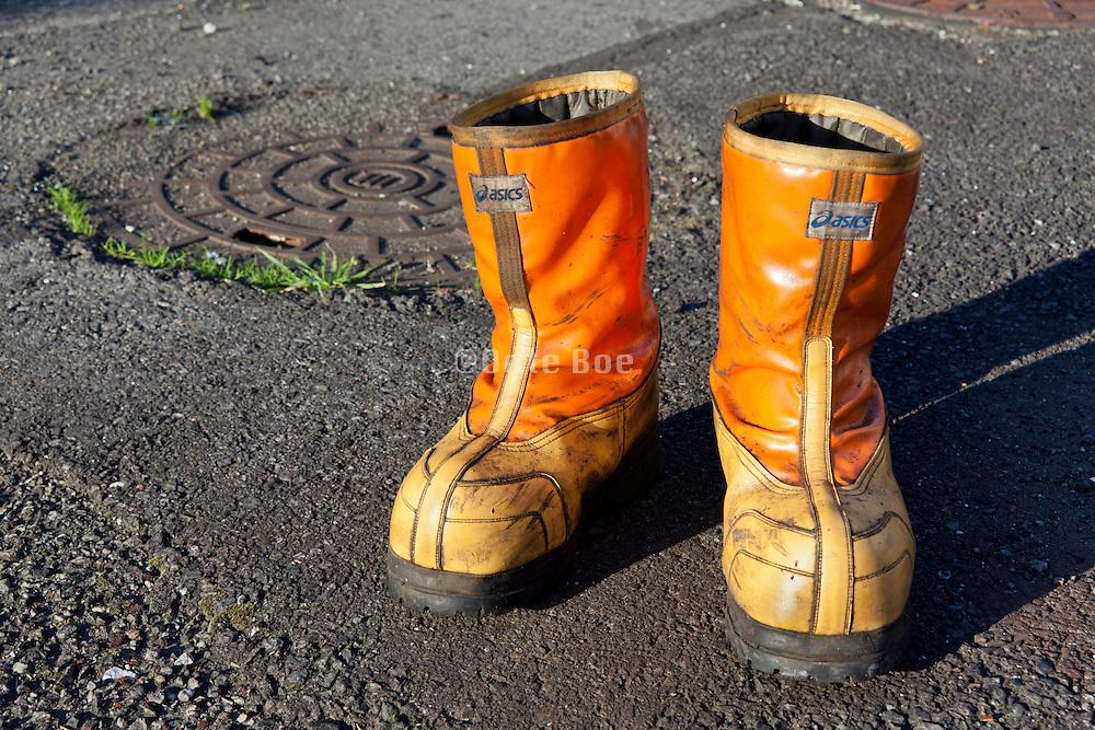 heavy duty fishermen working safety boots Japan