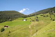 Remote alpine farmhouse photographed in Tirol, Austria
