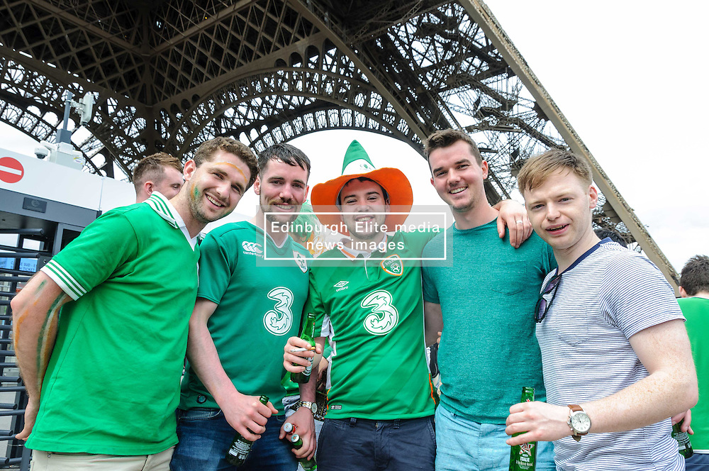 Irish fans are again proving to be a popular tourist site wherever they go. Images from the UEFA EURO 2016, 14 June 2016 in Fan Zone. (c) Paul Roberts | Edinburgh Elite media. All Rights Reserved