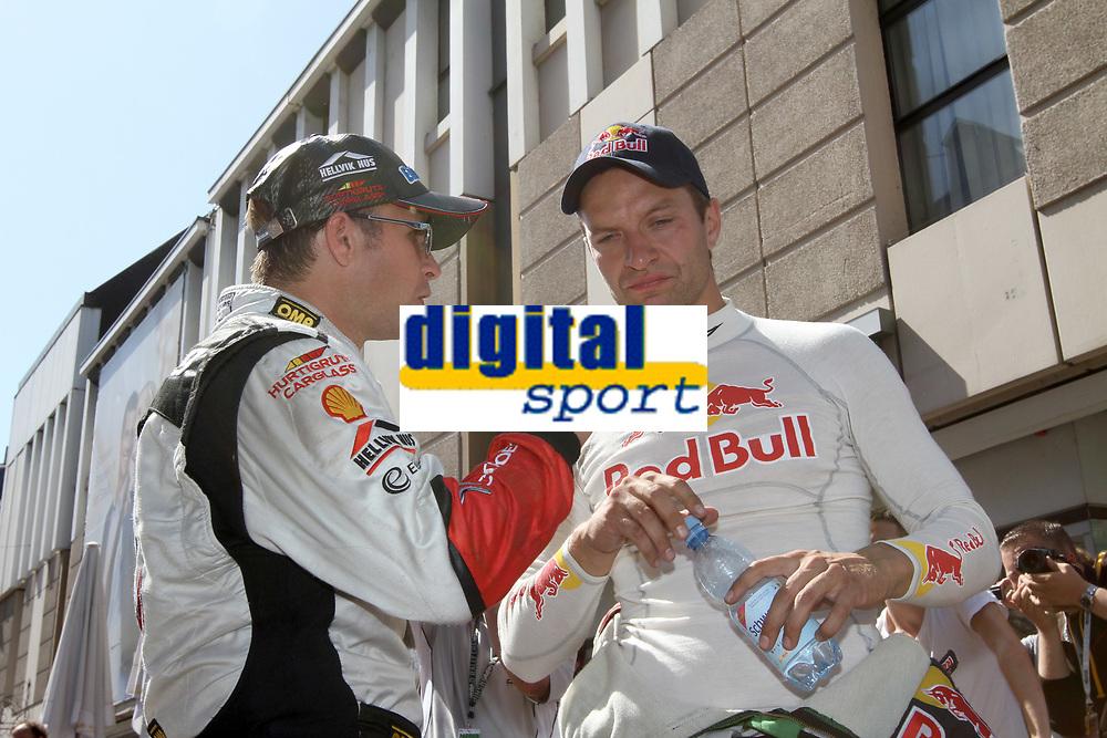 MOTORSPORT - WORLD RALLY CHAMPIONSHIP 2011 - ADAC DEUTSCHLAND RALLY / GERMANY RALLY - TRIER (GER) - 18 TO 21/08/2011 - PHOTO: BASTIEN BAUDIN / DPPI - <br /> SOLBERG PETTER (NOR) - CITROËN DS 3 WRC - PETTER SOLBERG WRT - AMBIANCE PORTRAIT HANNINEN JUHO  (FIN) - SKODA FABIA S2000 - AMBIANCE PORTRAIT