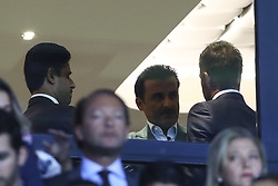 September 18, 2019, Paris, France: Nasser El Khelaifi ( President PSG ) avec Tamim ben Hamad Al Thani - prince du Qatar - proprietaire du PSG (Credit Image: © Panoramic via ZUMA Press)