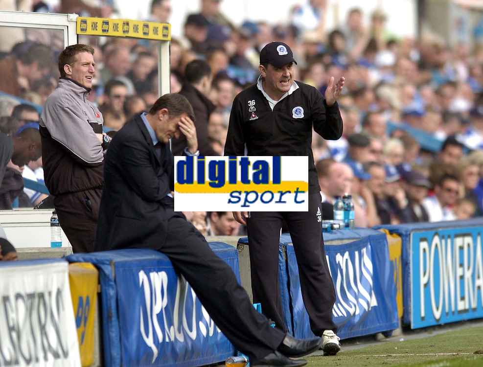 Photo: Olly Greenwood.<br />Queens Park Rangers v West Bromwich Albion. Coca Cola Championship. 31/03/2007. West Brom's manager Tony Mowbray and QPR's manager John Gregory