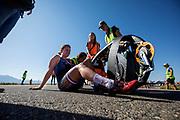 De ochtendruns op zaterdag, de laatste racedag. Het Human Power Team Delft en Amsterdam, dat bestaat uit studenten van de TU Delft en de VU Amsterdam, is in Amerika om tijdens de World Human Powered Speed Challenge in Nevada een poging te doen het wereldrecord snelfietsen voor vrouwen te verbreken met de VeloX 9, een gestroomlijnde ligfiets. Dat staat sinds 13 september 2019 op naam van Ilona Peltier met 126,52 km/u. De Canadees Todd Reichert is de snelste man met 144,17 km/h sinds 2016.<br /> <br /> With the VeloX 9, a special recumbent bike, the Human Power Team Delft and Amsterdam, consisting of students of the TU Delft and the VU Amsterdam, wants to set a new woman's world record cycling in September at the World Human Powered Speed Challenge in Nevada. The current record is 126,52 km/h by Ilona Peltier.  The fastest man is Todd Reichert with 144,17 km/h.