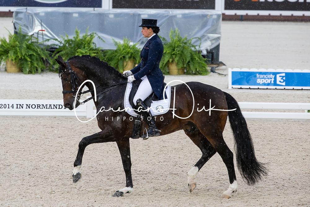 Inessa Merkulova, (RUS), Mister X - Grand Prix Team Competition Dressage - Alltech FEI World Equestrian Games™ 2014 - Normandy, France.<br /> © Hippo Foto Team - Leanjo de Koster<br /> 25/06/14