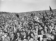 Supporters at the All Ireland Senior Gaelic Football Final Down v. Offaly in Croke Park on 24th September 1961.