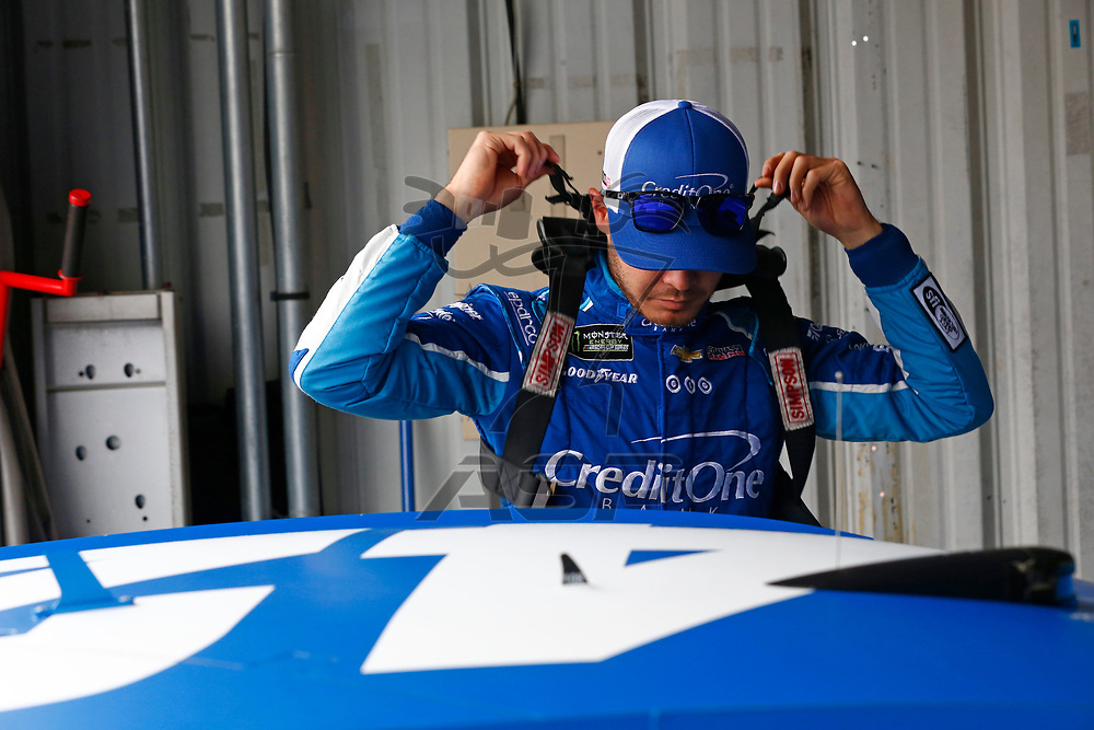April 29, 2017 - Richmond, Virginia, USA: Kyle Larson (42) hangs out in the garage during practice for the Toyota Owners 400 at Richmond International Speedway in Richmond, Virginia.
