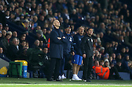 Bob Bradley, the Swansea city manager looks to the heavens for inspiration as his team are losing 3-1 late in the match.  Premier league match, West Bromwich Albion v Swansea city at the Hawthorns stadium in West Bromwich, Midlands on Wednesday 14th December 2016. pic by Andrew Orchard, Andrew Orchard sports photography.