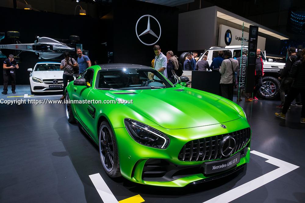 Mercedes AMG GT R at Geneva International Motor Show in Geneva Switzerland 2017