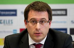 Ales Zavrl, secretary general during press conference of the Football Association of Slovenia (NZS – Nogometna zveza Slovenije), on November 7, 2011, in NZS, Crnuce, Ljubljana, Slovenia.  (Photo by Vid Ponikvar / Sportida)