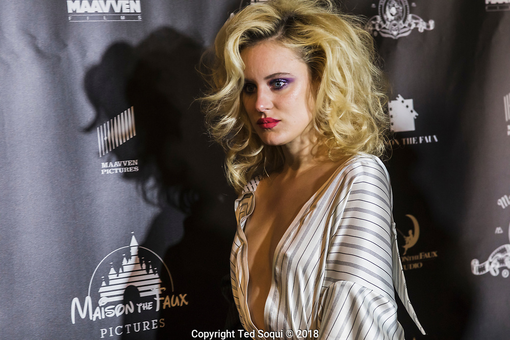 Fashion by  Maison the Faux.<br /> LA Fashion Week, LAFW, held at the Neuehouse in Hollywood.