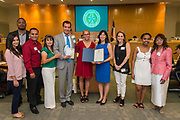 Volunteers in Public Schools VIPS honorees are recognized by Trustee Anne Sung during a Board of Trustees meeting, April 13, 2017.